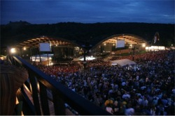 Alpine Valley from the air during a packed concert - East Troy, WI - RIP Stevie Ray Vaughan