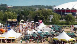 Bratfest 2018 on Willow Island at the Alliant Energy Center in Madison, Wisconsin