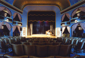 the historic Stoughton Opera House in downtown Stoughton, Wisconsin
